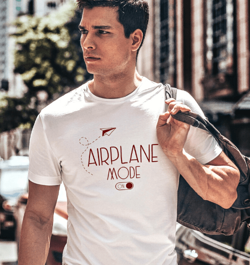 Airplane Mode On Travel T Shirt