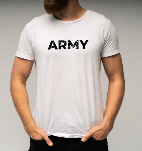 Army T-Shirts For Men in white