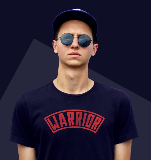 Warrior Army T-Shirts For Men in blue
